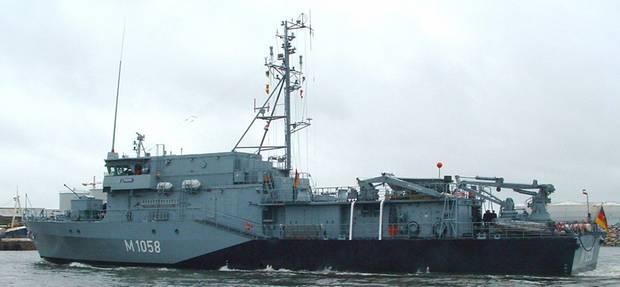 Ein Schiff der Frankenthal-Klasse