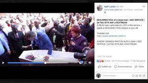 Pastor Alph Lukau bei seiner angeblichen Totenerweckung