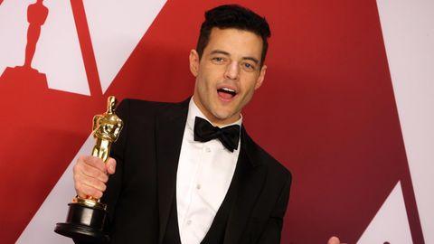 Rami Malek freute sich bei der Oscar-Verleihung über seine Trophäe