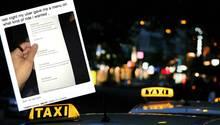 Twitter: Taxifahrt nach Menü