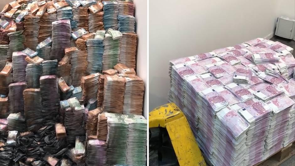 """""""Gestohlenes Geld"""": Stapelweise 500-Euro-Scheine - was es mit den """"Europaletten"""" auf sich hat"""