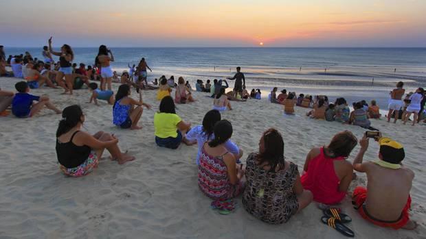 Kollektives Erlebnis:Sonnenuntergang inJericoacoara