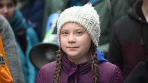 Klimaaktivistin Greta Thunberg bei der Kundgebung in Hamburg