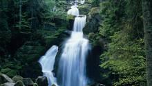 Die Triberger Wasserfälle sind durchaus beeindruckend