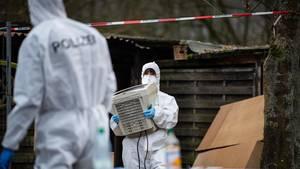 Die Spurensicherung bei den Ermittlungen in Lüdge