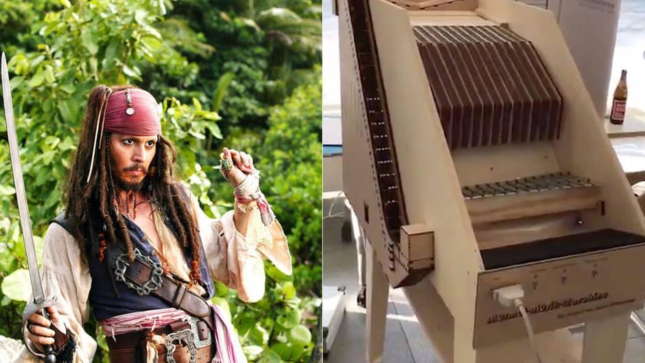 """""""Fluch der Karibik""""-Melodie: Die wundersame Maschine eines Schülers ersetzt ein ganzes Orchester - und zwar durch Murmeln"""
