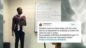 Matheprofessor springt als Babysitter ein