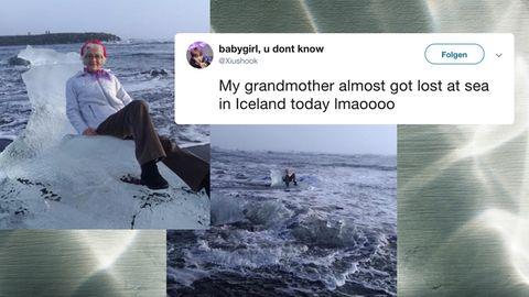 Twitter: Oma treibt auf Eisscholle hinaus