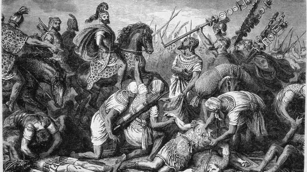 Der Stich soll Hannibal auf dem Schlachtfeld von Cannae zeigen