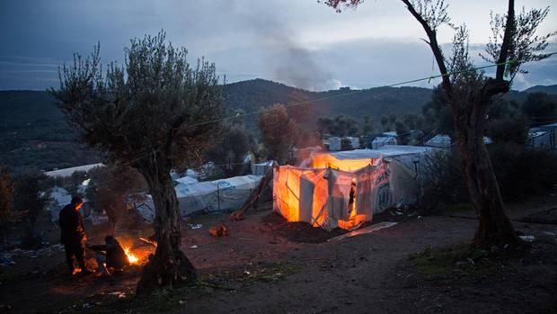Reportage Lesbos Hütte