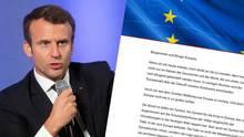 Frankreichs Präsident Emmanuel Macron und sein Appell