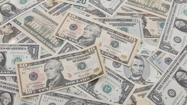 Dollarscheine - Supergewinn bei der US-Lotterie Mega Millions