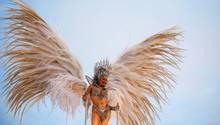 Ein Engel der Sambaschule Mocidade Independente de Padre Miguel