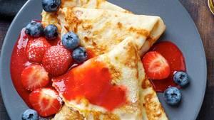 Pürierte Früchte für Pfannkuchen