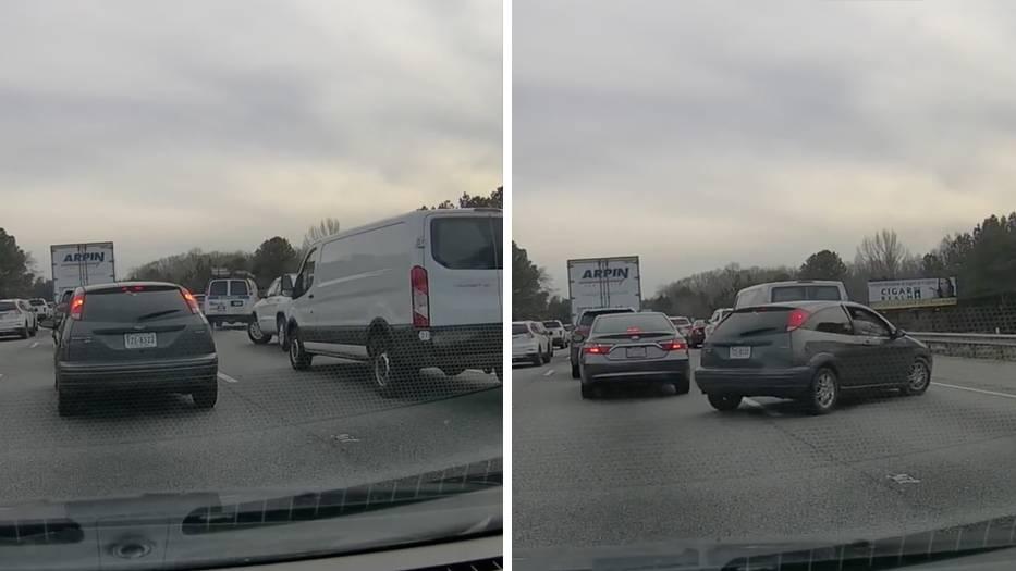 Verkehrssünder benutzen verbotenerweise den Standstreifen.