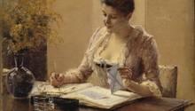 Als sie diesen Brief schrieb und versiegelte, konnte sie nicht ahnen, dass man heute ihre DNA auswerten kann. Das Foto zeigt ein Werk des finnischen MalersAlbert Edelfelt.