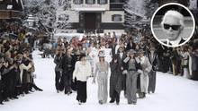 Chanel-Show in Paris, Karl Lagerfeld