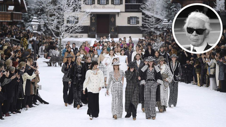 Chanel-Show in Paris, Karl Lagerfeld