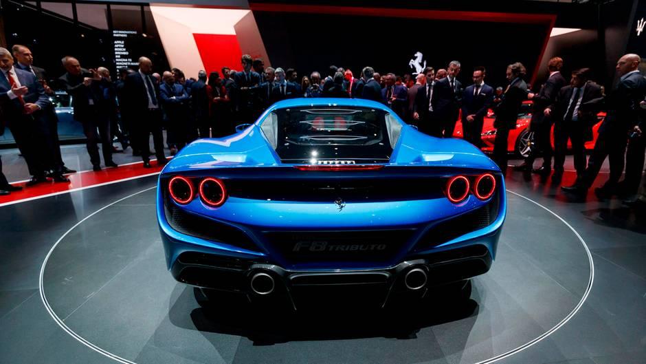 Eine der Schönheiten der Messe: der neue Ferrari F8 Triturbo.