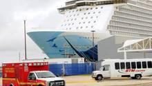 """Die """"Norwegian Escape"""" am Dienstag im Hafen von PortCanaveral (Florida)"""