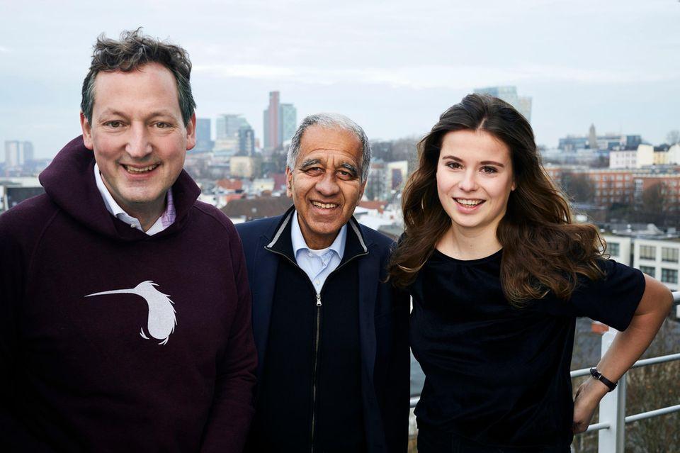 Kleiner Klimagipfel mit Mojib Latif (Mitte) und Aktivistin Luisa Neubauer