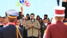 Dieses Foto des präsidialen Pressebüros zeigt Venezuelas Präsident Nicolas Maduro bei einer Ansprache