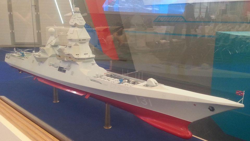 Modell der neuen Schiffsklasse.