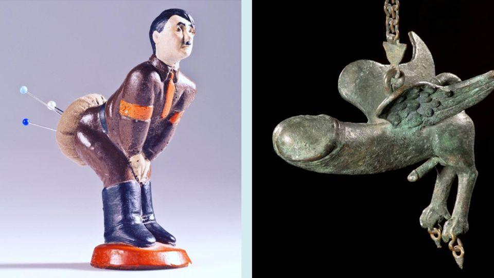 """""""Strange Things Challenge"""": Ein fliegender Penis, Hitler mit Nadeln im Po: Das sind die kuriosesten Exponate aus Museen"""