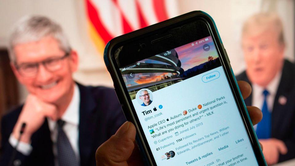 Nach Versprecher von Donald Trump: Tim Cook nennt sich jetzt Tim Apple