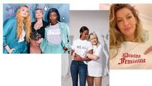 Promis und ihre Shirts zum Weltfrauentag