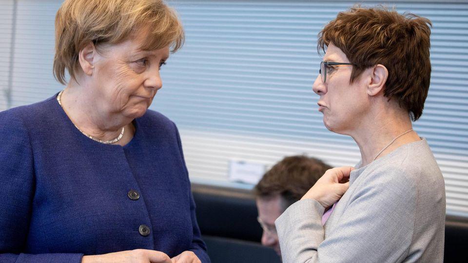 Kanzlerwechsel zwischen Angela Merkel und Annegret Kramp-Karrenbauer? SPD sagt Nein