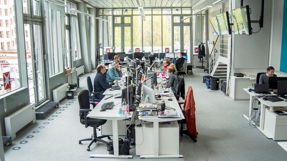 Blick in den Newsroom beim stern