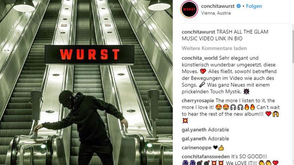 Conchita Wurst präsentiert neues Musikvideo auf Instagram