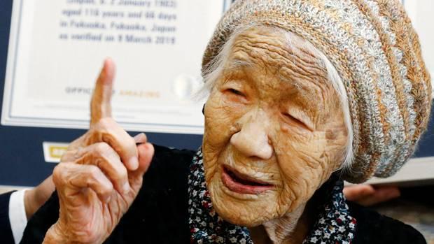 Kane Tanaka, eine 116-jährige Japanerin, ist der älteste Mensch der Welt