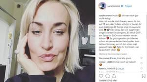 Sarah Connor zeigt Selfie auf Instagram