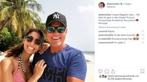 Dieter Bohlen und Freundin Carina Walz melden sich aus dem Urlaub auf Instagram
