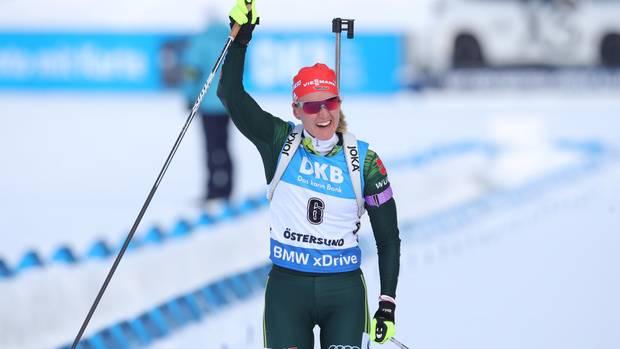Sport kompakt - Denise Herrmann jubelt über WM-Gold in der Verfolgung