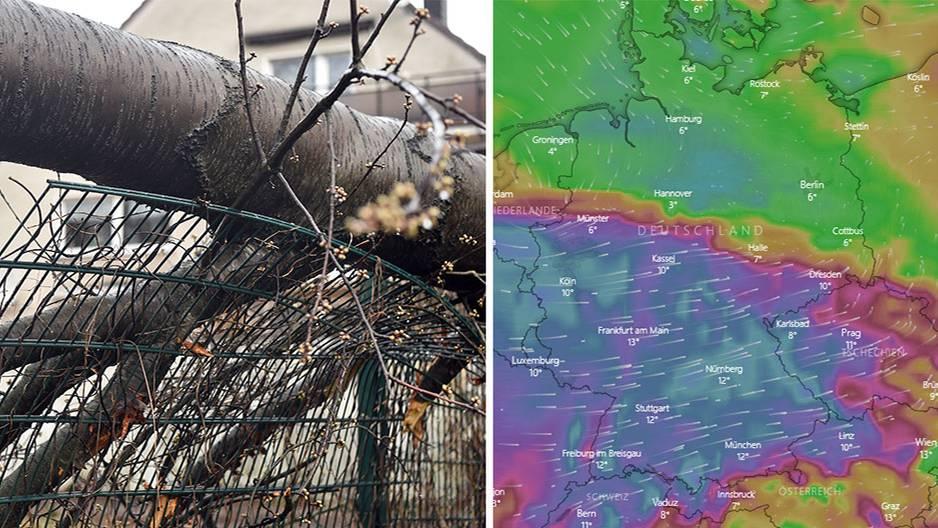 Wetter Heute Live Karte Zeigt Wo Sturm Eberhard übers Land Weht