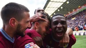 Jack Grealish von Aston Villa bejubelt sein Tor
