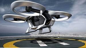 Der CityAirbus, die elektrobetriebene, drohnenähnliche Flugmaschine mit vier Sitzplätzen und acht Rotoren