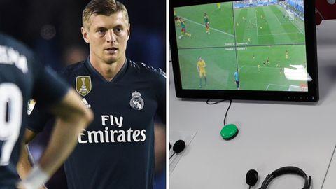 Toni Kroos gewannt mit Real Madrid 4:1 beiValladolid. Interessanter war aber eine Szene gleich zu Beginn der Partie.