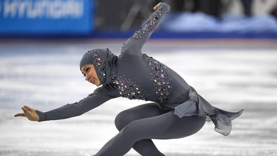 Zahra Lari ist die erste Eiskunstläuferin,die in einemHidschab auftritt