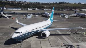 Eine Boeing 737 Max auf dem Rollfeld