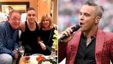 Robbie Williams vereint seine Eltern nach 45 Jahren zum ersten Mal für ein Familienfoto.