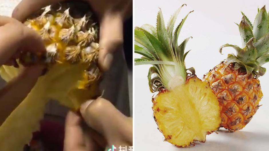 Bilder einer Ananas.