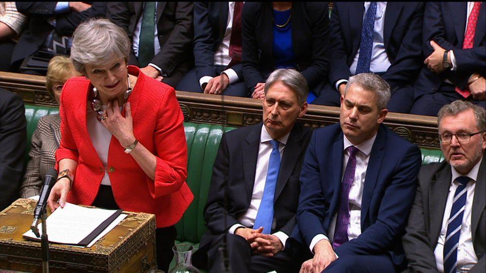 Theresa May im britischen Unterhaus