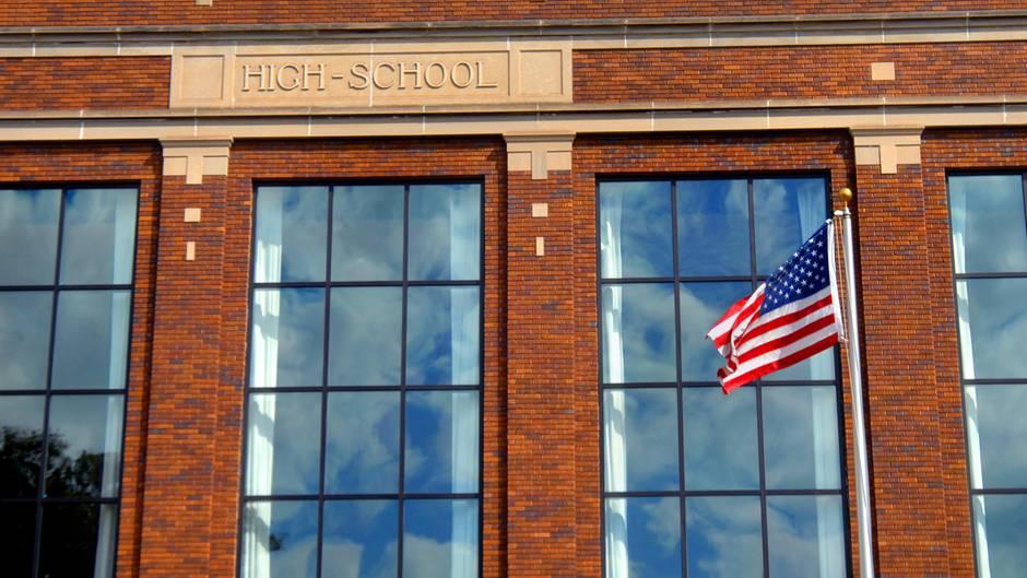 Eine High School in den USA