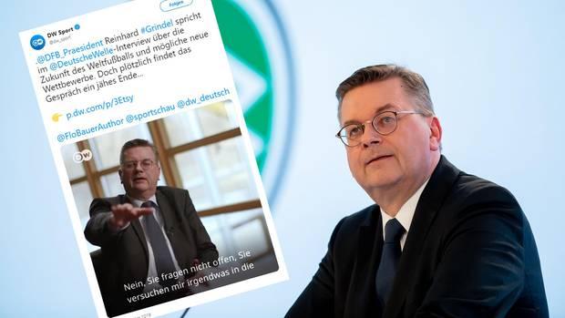 DFB-Präsident Reinhard Grindel bricht Interview ab