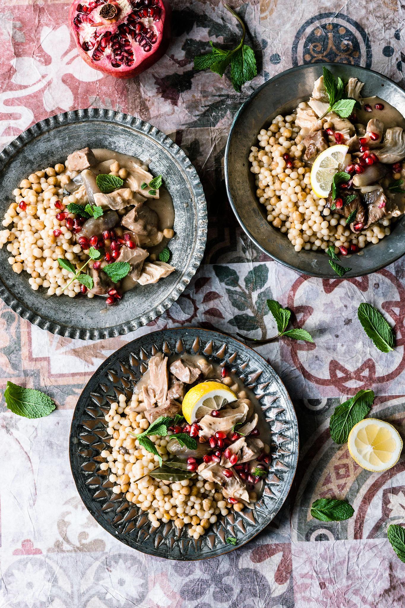 Rezepte zum Nachkochen: Couscous-Perlen, die wie Pasta schmecken: Warum sie Moghrabieh ausprobieren müssen