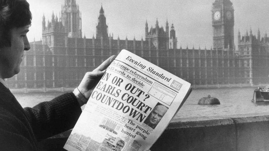 Titelblatt von 1974: Schon beim EU-Beitritt Großbritanniens war das land gespalten